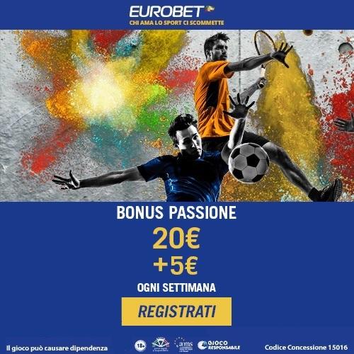 Eurobet Italia: bonus scommesse